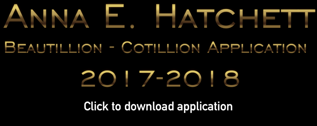 Anna E. Hatchett Beautillion - Cotillion Application 2017-2018